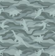 Lewis & Irene - Kimmeridge Bay - 6223 - Dinosaurs in Teal - A305.2 - Cotton Fabric